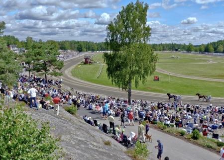 """Årjängstravet """" Sveriges vackraste travbana """"."""
