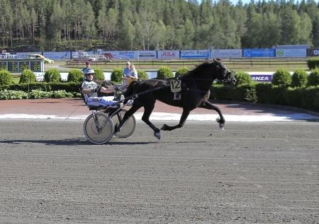 Nr 12 Granetta med Jimmy Jonsson i sulkyn vann loppet Erik Perssons Memorial 2018.