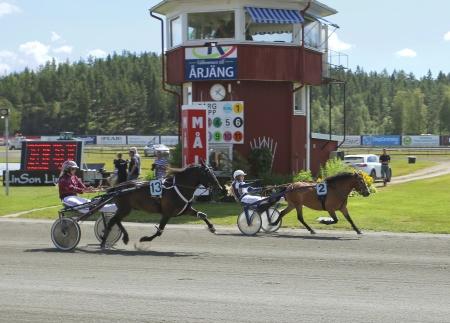 Årjängs Lilla Sprinterlopp vanns av Allgunnens Face med Alicia Larsson i sulkyn.