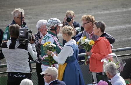 Thomas Uhrberg fick besöka vinnarcirkeln en andra gång den här dagen.