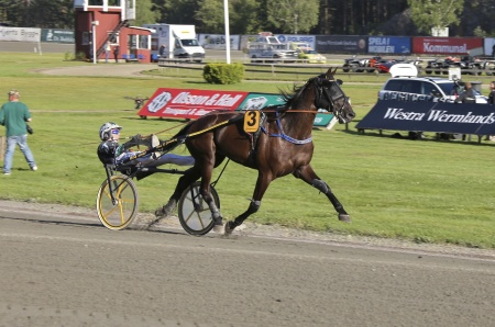 Årjängs Stora Sprinterlopp - nr 3 On Track Piraten med Johnny Takter i sulkyn.