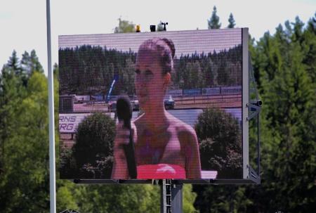 Sångerskan Hanne Hermansson sjöng Värmlandsvisan.