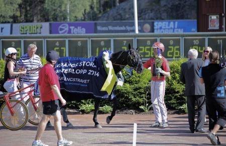 Johan Untersteiner och Magic Tonight vinnare i Årjängs Stora Sprinterlopp.