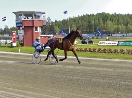 Årjängs Stora Sprinterlopp - Häst nr 1 Global Money - Hugo Langeweg J:r