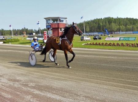 Årjängs Stora Sprinterlopp - Häst nr 2 Hard Livin - Björn Goop