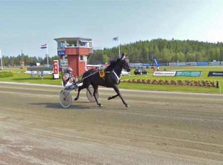 Årjängs Stora Sprinterlopp - Häst nr 6 Miss Sue V. - Daniel Redén