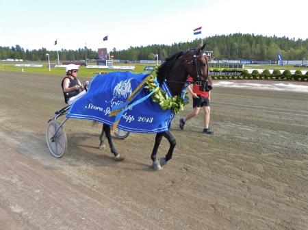 Sebastian K - vinnare av Årjängs Stora Sprinterlopp 2013.