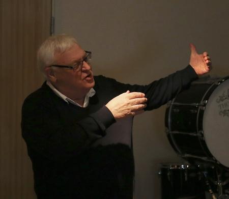 Runar Patriksson berättade om processen som ledde fram till byggandet av nya Musikskolans Hus.