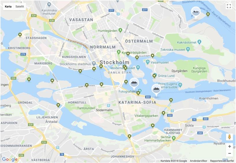 Båthållplatser Stockholm