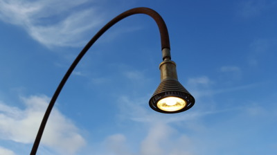 Trädgårdsbelysning 12 V LED Rost two faces of sweden - Trädgårdslampa 12 V LED Rost 2,5 m hög
