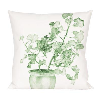 Kuddfodral Pelargon Design Emma Sjödin - Kuddfodral Blå/Grön Pelargon