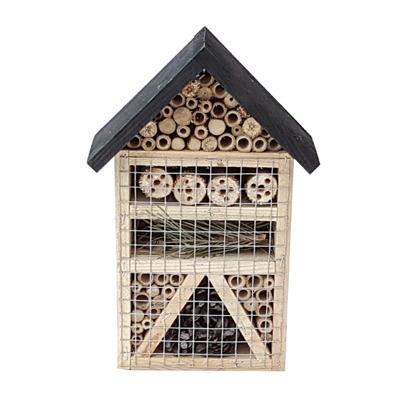Insektshotell - Insektshotell svart tak