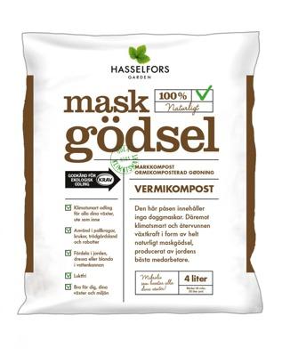 Maskgödsel Hasselfors - Maskgödsel 4 liter