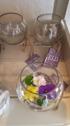 Klotformad skål/vas på stålställning ELDgarden