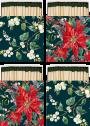 Tändsticksask - Tändsticksask liten Christmas floral