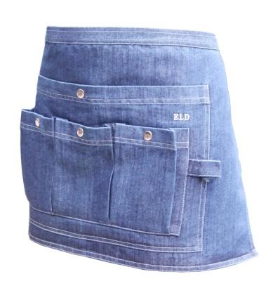 Trädgårdsförkläde av jeans midjekort ELDgarden - Trädgårdsförkläde midjekort