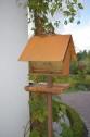 Fågelmatare som hus Rost two faces - Fågelmatshus Rost inkl stativ