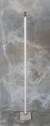 Ljusstake golv med cementfot vit two faces - Ljusstake Vit H=125 cm