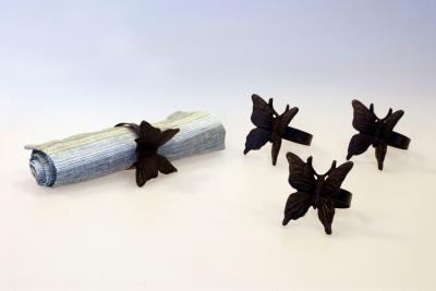 Servettringar 4-pack fjäril - Servettringar 4-pack fjäril