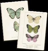 Anteckningsbok A5 mixade motiv fjärilar ros Sköna Ting