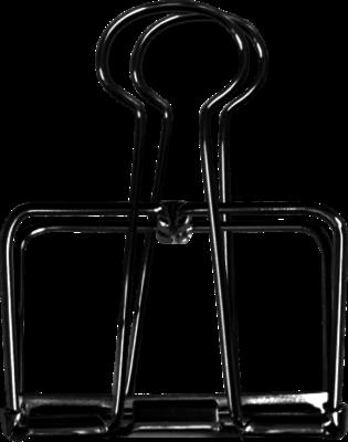 Pappersklämma 51 mm för poster och Art Print Sköna Ting - Pappersklämma 51 mm för poster Sköna Ting svart
