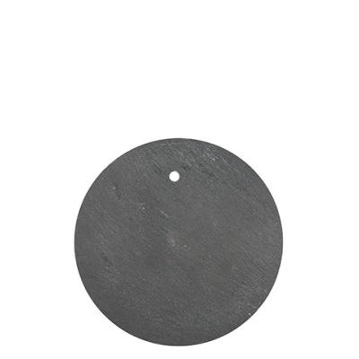 Skifferskylt rund med hål - Skifferskylt rund med hål