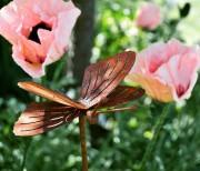Trädgårdsdekoration rost fjärilen ELDgarden