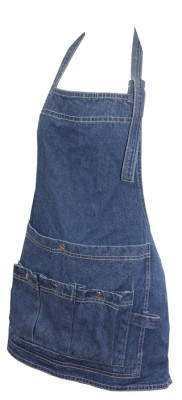 Trädgårdsförkläde av jeans bröstlapp ELDgarden - Trädgårdsförkläde av jeans bröstlapp ELDgarden