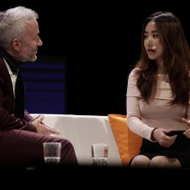 Ola with North korean defector and freedom fighter, Yeonmi Park