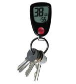 Nyckelring med klocka och termometer
