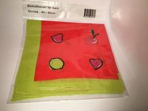 Röd barnscarf