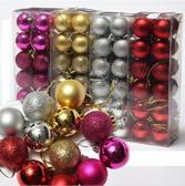 Färgglada julkulor i 24-pack