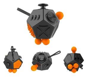 Fidget cube 2.0 - Orange/svart