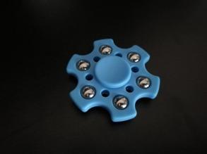 Fidget spinner hexagon - Ljusblå