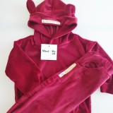 VELOUR SWEATSUIT - RED
