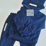 VELOUR SWEATSUIT - BLUE