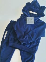 VELOUR SWEATSUIT - BLUE - Velour sweatsuit - Blue 90 '24 month'