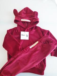 VELOUR SWEATSUIT - RED - Velour sweatsuit - Red 80 '12 month'