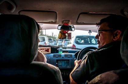 Inside a cab - fotograf Roger Forsmark