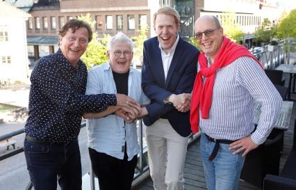 Fr v: Håkan Runevad, Bertil Schough, Andreas Sköld, Magnus Wernersson