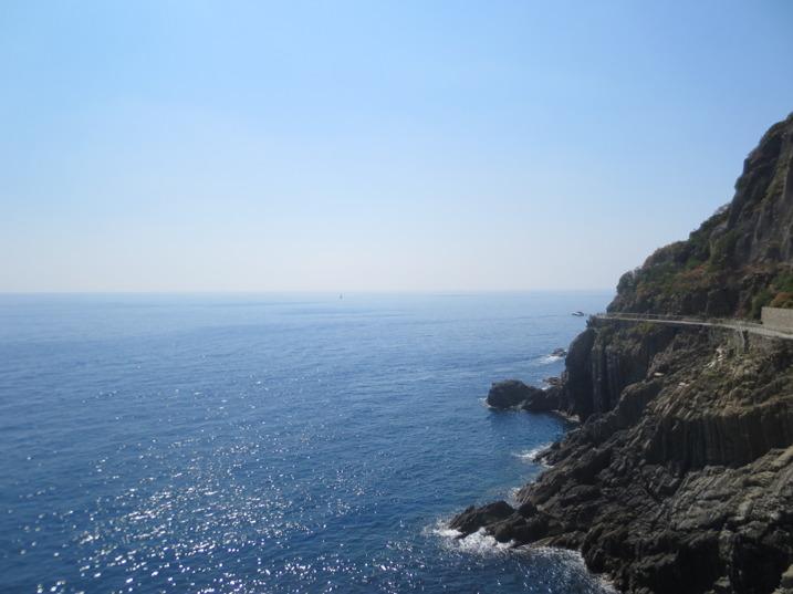 Utsikt från utsiktsplatsen i Riomaggiore