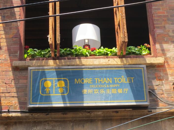 Kinesiska toaletter verkar helt klart trevligare än våra svenska. Delikata och lyckliga är inte ord jag normalt sett använder för att beskriva en toalett.