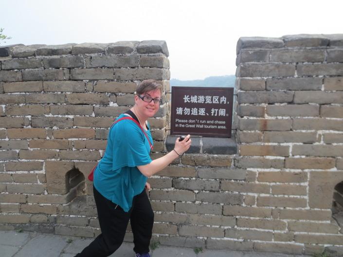 Visst blir man sugen på att leka jage på Kinesiska muren?