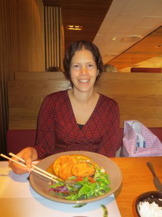 Jag åt en god rätt som hette Katsu curry