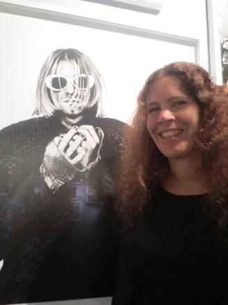 Sara träffade en gammal idol vid Anton Corbijn-utställningen.