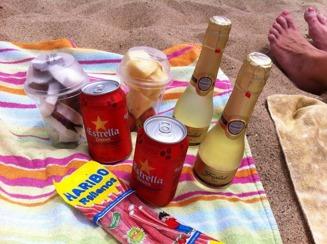 Picknick på stranden