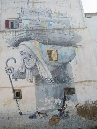 Gatukonst utanför Medinan, den gamla delen av  Casablanca
