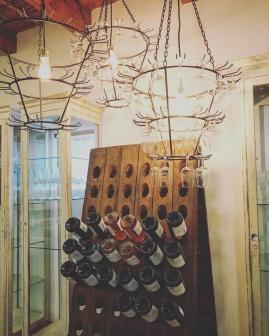 Det fanns goda viner och även choklad på Boschendal