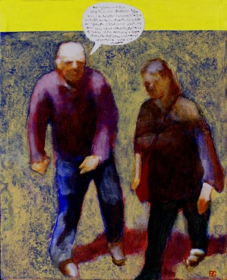 Mansplaining, 22 x 27 cm, akryl