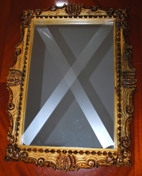 Mirror Frame, 56 x 78 cm, träsnideri